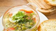 Zupa oliwkowa z groszkiem i marchewką