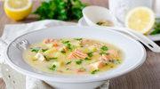 Zupa serowa z łososiem