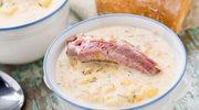 Zupa serowa z żeberkami