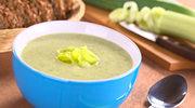 Zupa serowo-porowa z szynką