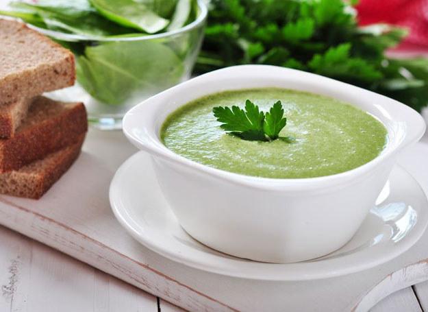 Zupa z bazylią i ogórkiem /123RF/PICSEL
