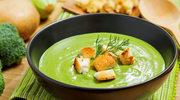 Zupa z brokułów z kaszą jaglaną