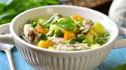 Zupa z groszkiem i kurczakiem