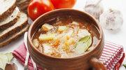 Zupa z kapusty kiszonej z ciecierzycą