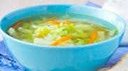 Zupa z ogórkiem i włoską kapustą