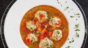 Zupa z pomidorów i papryki z pulpetami