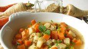 Zupa z selerem, marchewką i kaszą perłową