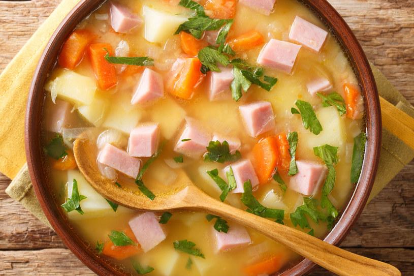 Zupa z szynką /123RF/PICSEL