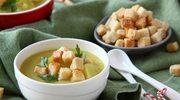 Zupa z zielonego groszku i pora