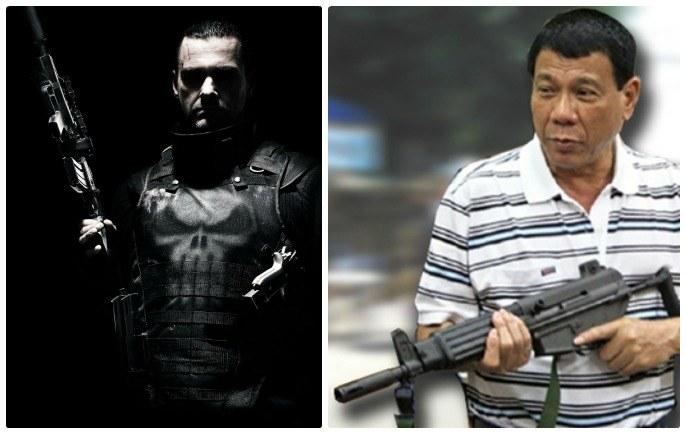 Zupełnie niepodobni, podobnie skuteczni. Komiksowy Punisher i Rodrigo Duterte /INTERIA.PL