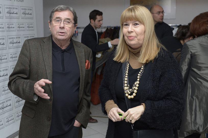 Zuzanna Łapicka z Januszem Gajosem w 2014 roku /AKPA