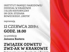Związek Odwetu ZWZ-AK w Krakowie. Zaproszenie na prelekcję