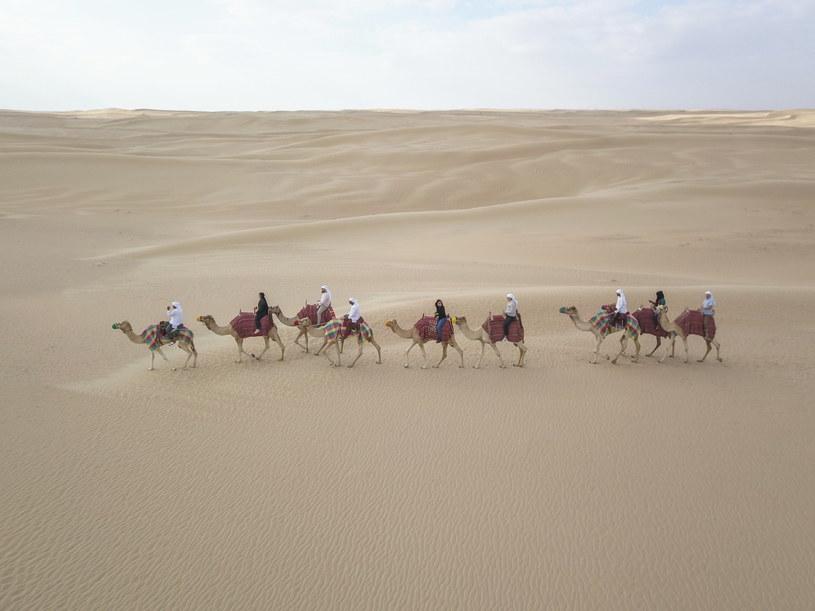 Zwiedzanie pustyni na grzbiecie wielbłąda to jedna z najpopularniejszych atrakcji dla turystów /materiały prasowe