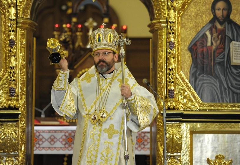 Zwierzchnik Ukraińskiego Kościoła Greckokatolickiego abp Światosław Szewczuk /Łukasz Solski /East News