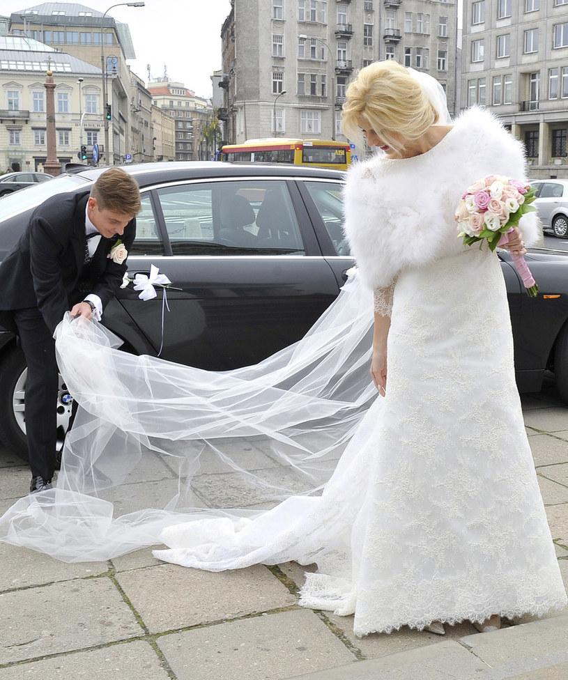 Zwierzyńska i jej ukochany pobrali się w 2013 roku /Mieszko Pietka /AKPA