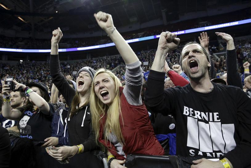 Zwolennicy Berniego Sandersa /AFP