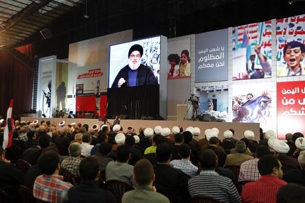 Zwolennicy Hezbollahu /NABIL MOUNZER   /PAP/EPA