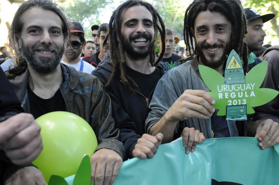 Zwolennicy legalizacji marihuany cieszą się z decyzji rządu /Sandro Pereyra  /PAP/EPA