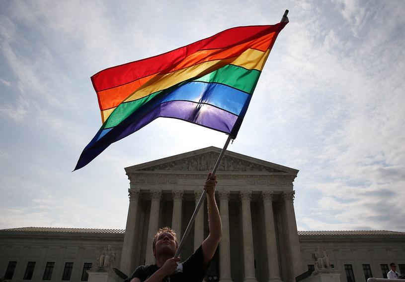Zwolennicy małżeństw homoseksualnych są szczęśliwi /AFP