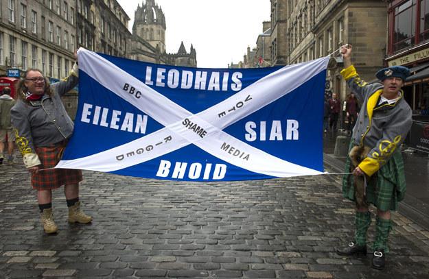 Zwolennicy niepodległości Szkocji /LESLEY MARTIN  /AFP
