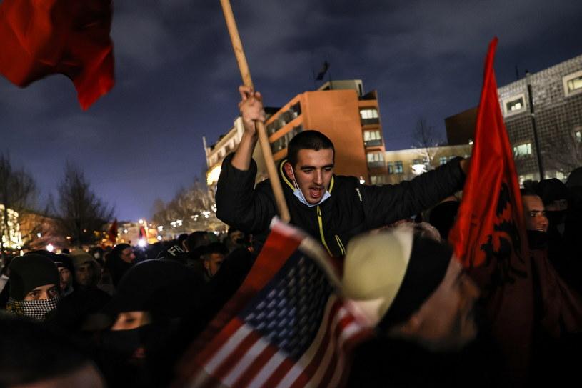 Zwolennicy partii Vetevendosje świętują zwycięstwo /VALDRIN XHEMAJ    /PAP/EPA