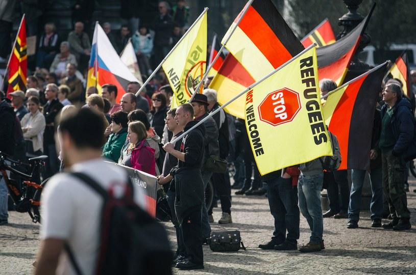 Zwolennicy Pegidy w Dreźnie /AFP