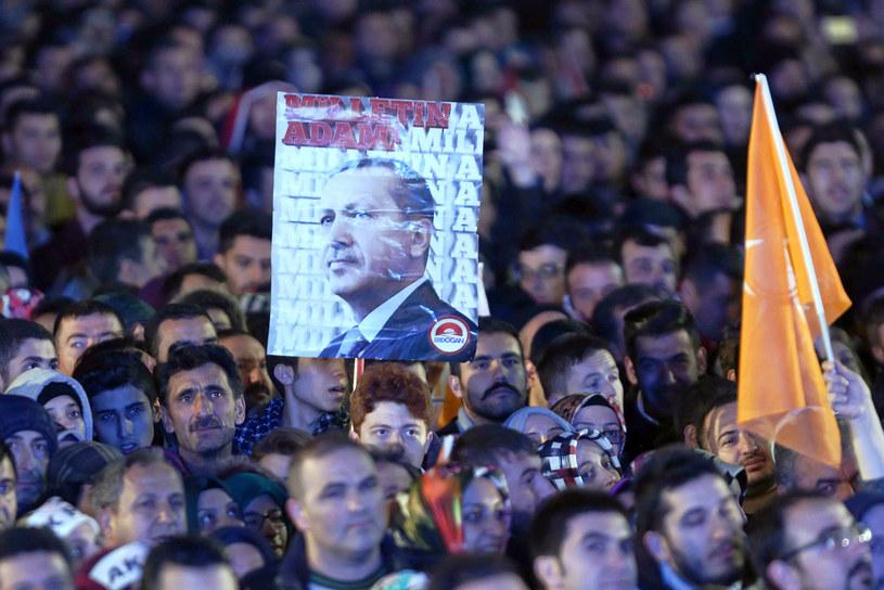 Zwolennicy prezydenta Recepa Tayyipa Erdogana /AFP