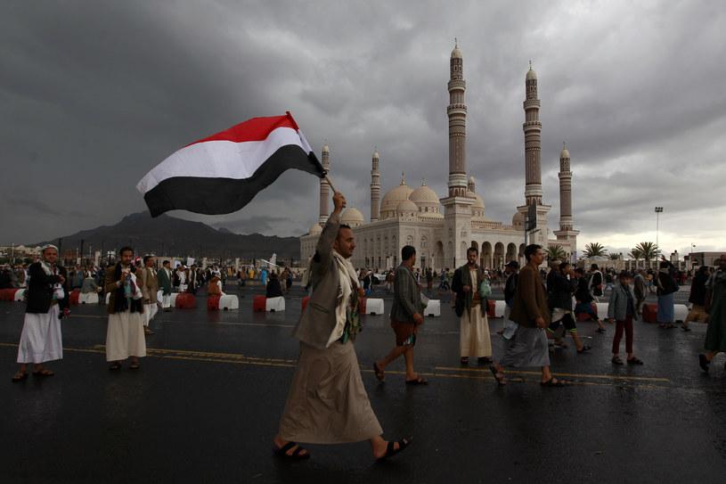 Zwolennicy ruchu Huti w Sanie /AFP