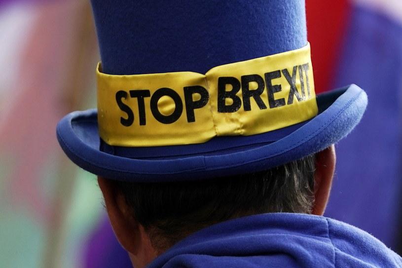 Zwolennik pozostania Wielkiej Brytanii w Unii Europejskiej, zdj. ilustracyjne /WILL OLIVER  /PAP/EPA