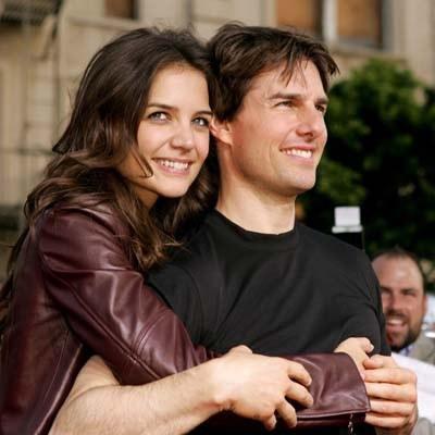 Zwycięscy Katie Holmes i Tom Cruise /AFP