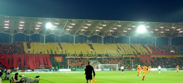 Zwycięską oprawą stadionową w ramach akcji ORANGE FAIR PLAY wybrano oprawę kibiców Kolportera Korony /MEDIASPORT