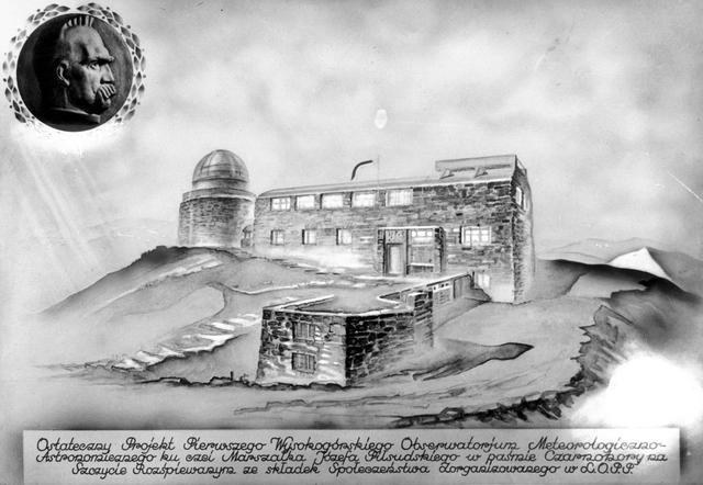 Zwycięski projekt architektoniczny obserwatorium meteorologiczno-atronomicznego na Czarnohorze /Archiwum Tomasza Basarabowicza