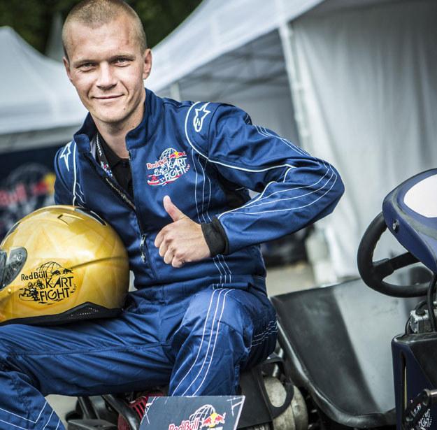Zwycięzca zawodów,  Adrian Puc z Rzeszowa /