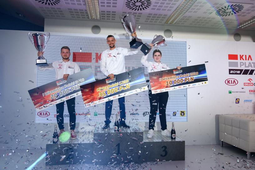 Zwycięzcy na podium /