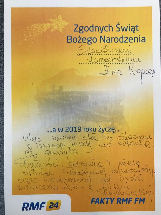 Życzenia Ewy Kopacz dla Stanisława Karczewskiego /RMF FM