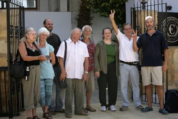 Żydowscy pacyfiści, który wybierają się do strefy Gazy /AFP