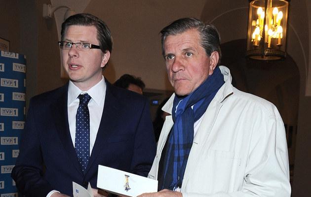 Zygmunt Chajzer z synem Filipem /Andras Szilagyi /MWMedia