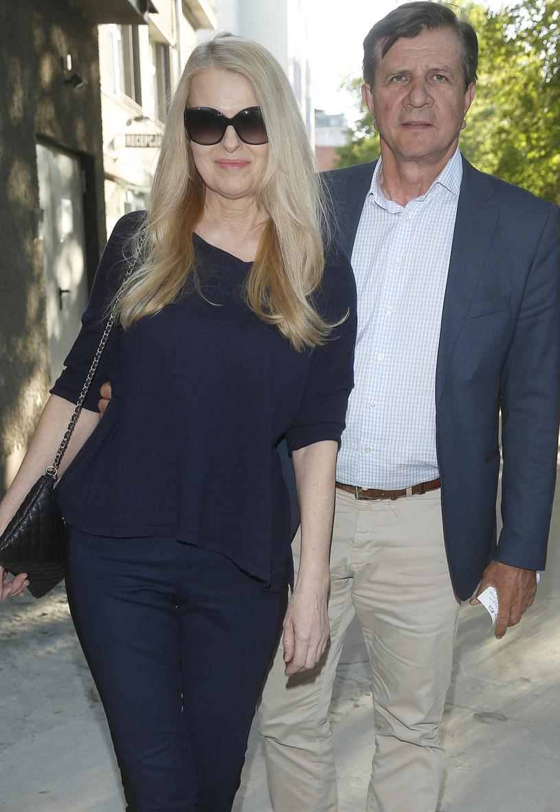 Zygmunt Chajzer z żoną Dorotą /Baranowski Michał  /AKPA