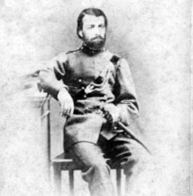 Zygmunt Chmieleński (1833-1863) - kapitan, od września 1863 r. pułkownik, naczelnik wojsk województwa krakowskiego;  spuścizna Janiny Jasickiej, sygn. SJ 73 /Archiwum Narodowe w Krakowie