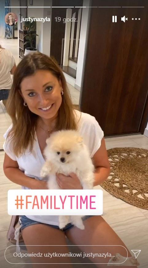 Żyłą kłóci się z dziewczyną Piotra o psa, https://www.instagram.com/justynazyla/ /Instagram